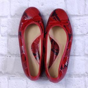 Bellofatto Snakeskin Ballerina Flat